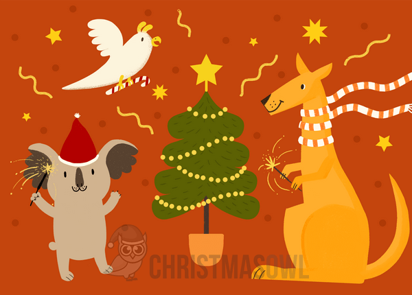 Printable Australian Christmas Card.