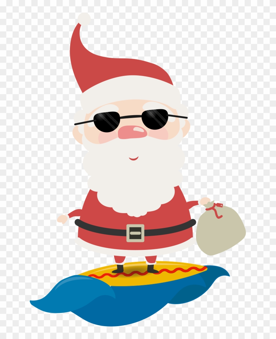 This Is A Sticker Of An Australian Santa.