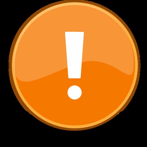Vektorgrafik von Ausrufezeichen in orange Kreis.