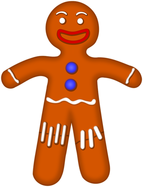 Free photo Biscuit Person Hansel Gingerman Gingerbread Man.
