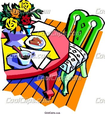 Table Vector Clip Art.