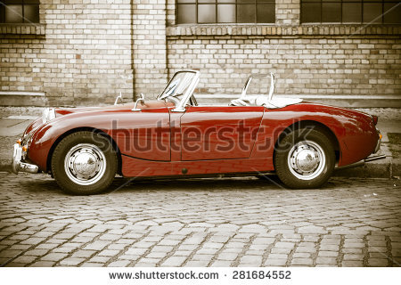 Vintage Roadster Stock Photos, Royalty.
