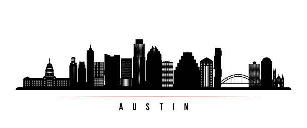 Best Austin Skyline Illustrations, Royalty.