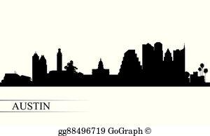 Austin Skyline Clip Art.