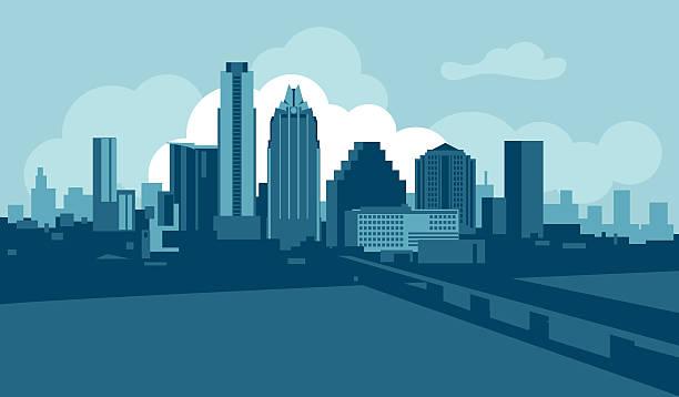 Best Austin Skyline Illustrations, Royalty.