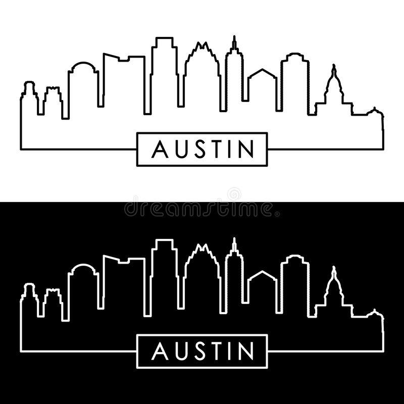 Austin Skyline Stock Illustrations.