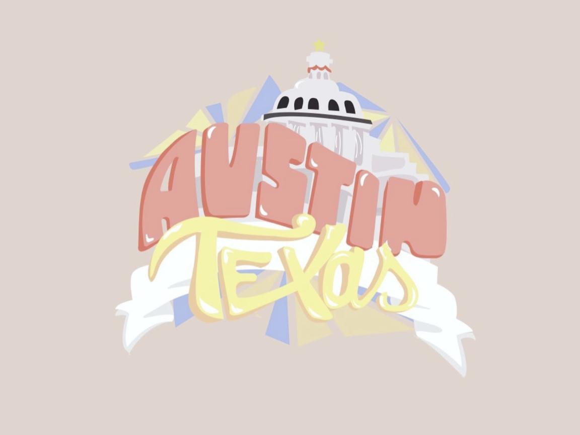 Austin, Texas) Graphic/Sticker by Addy Kaderli on Dribbble.