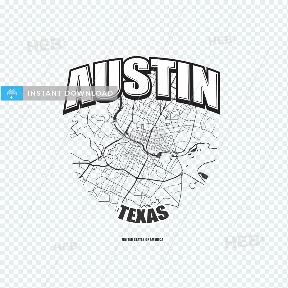 Austin, Texas, logo artwork.