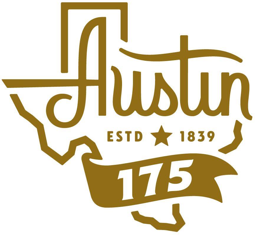 Austin TX 175 anniversary logo.