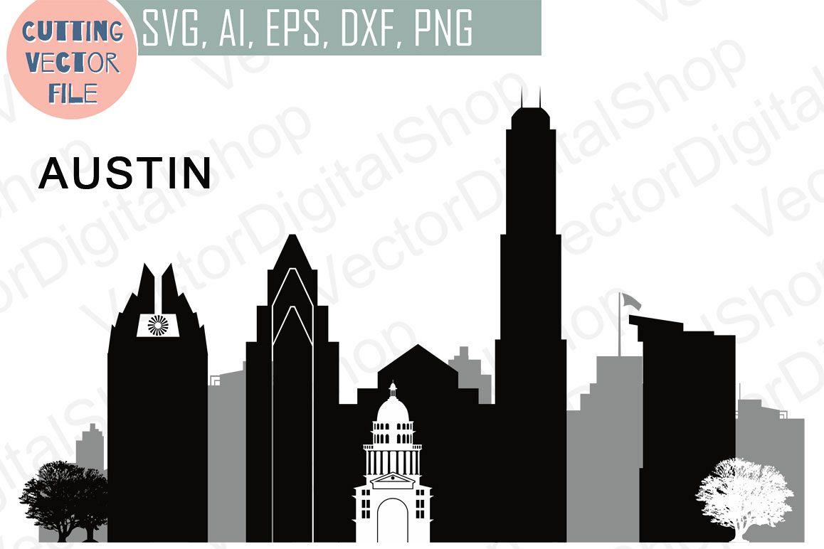 Austin Vector, Texas Skyline USA city, SVG, JPG, PNG, DWG, CDR, EPS, AI.