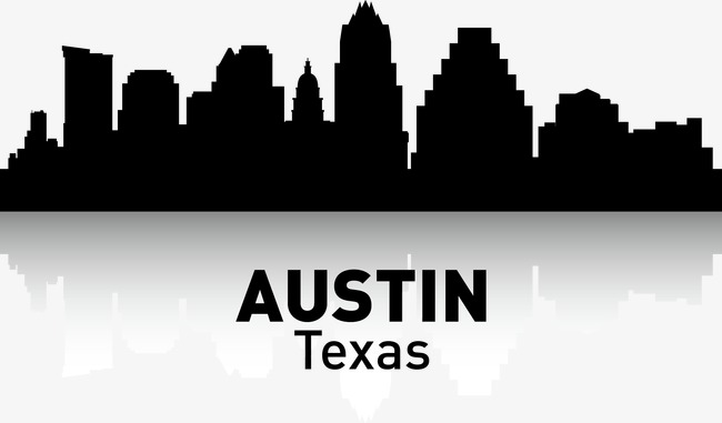 Austin Skyline Silhouette Free.