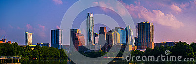 Brilliant Once In A Lifetime Austin Skyline Cityscape Panorama.