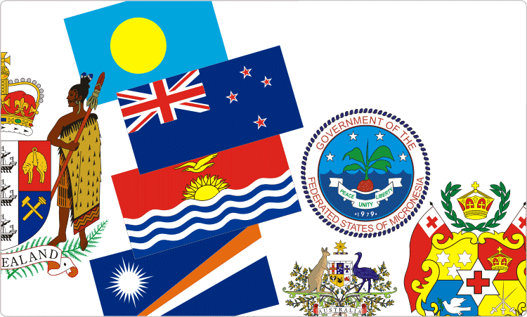 Heraldry of Australasia (Australia, New Zealand and Oceania.