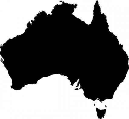 Clipart map of australia.