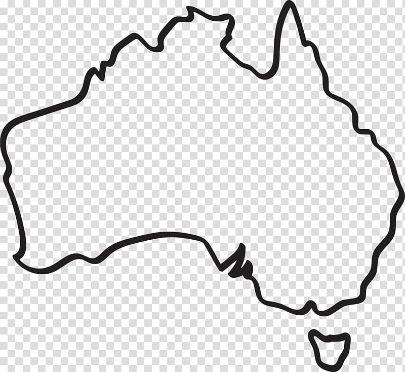 Black map , Australia Map Drawing, Australia transparent.