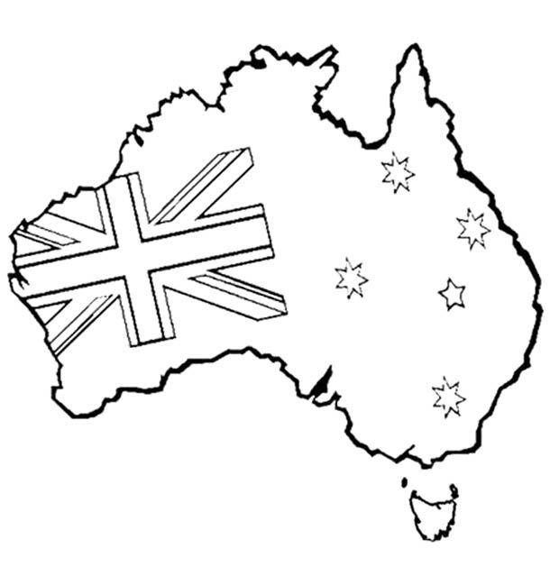 Australia Clipart Black And White.