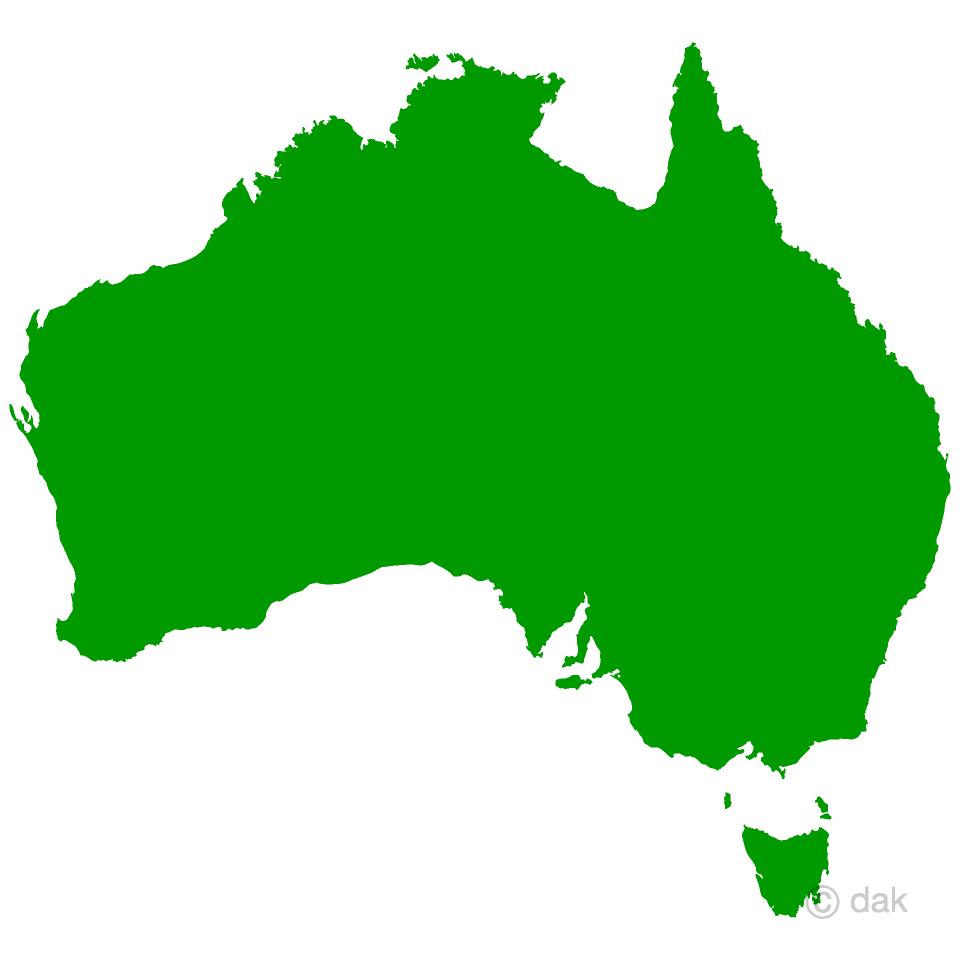 Free Australia Map Image Illustoon.