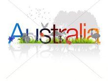 Australia clipart illustration, Australia illustration.
