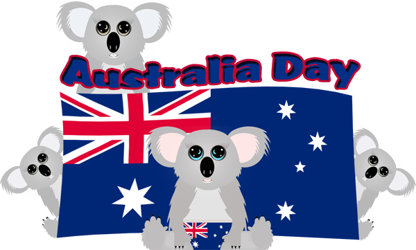 Australia Day Koala Family.