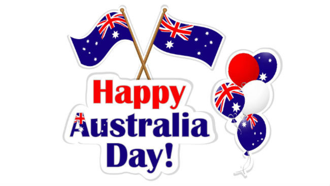 Happy Australia Day Wishes Clipart.
