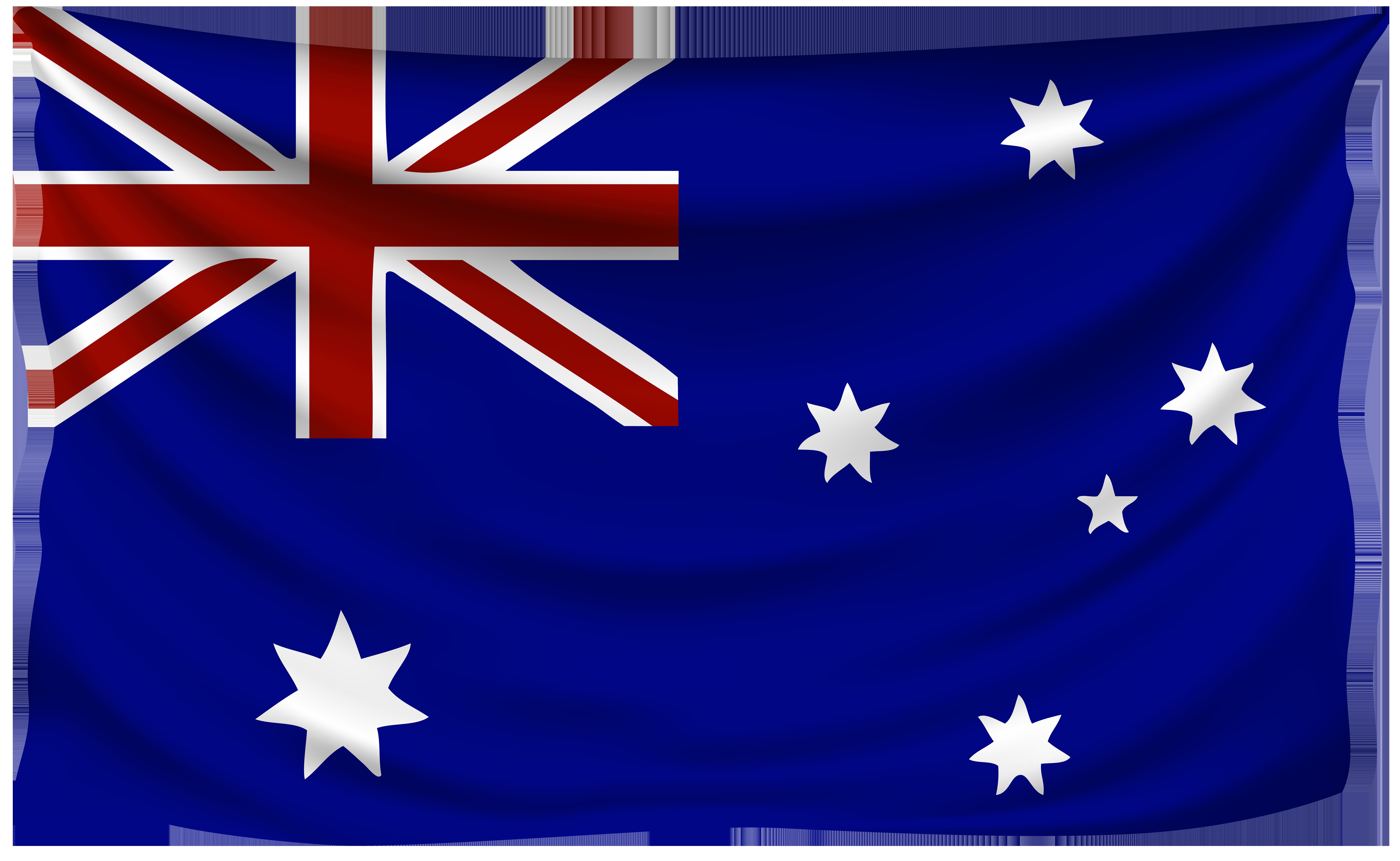 Australia Wrinkled Flag.