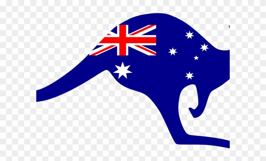 Australia Flag Clipart Black.