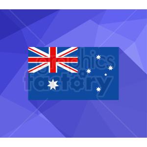 australia flag vector purple bg clipart. Royalty.
