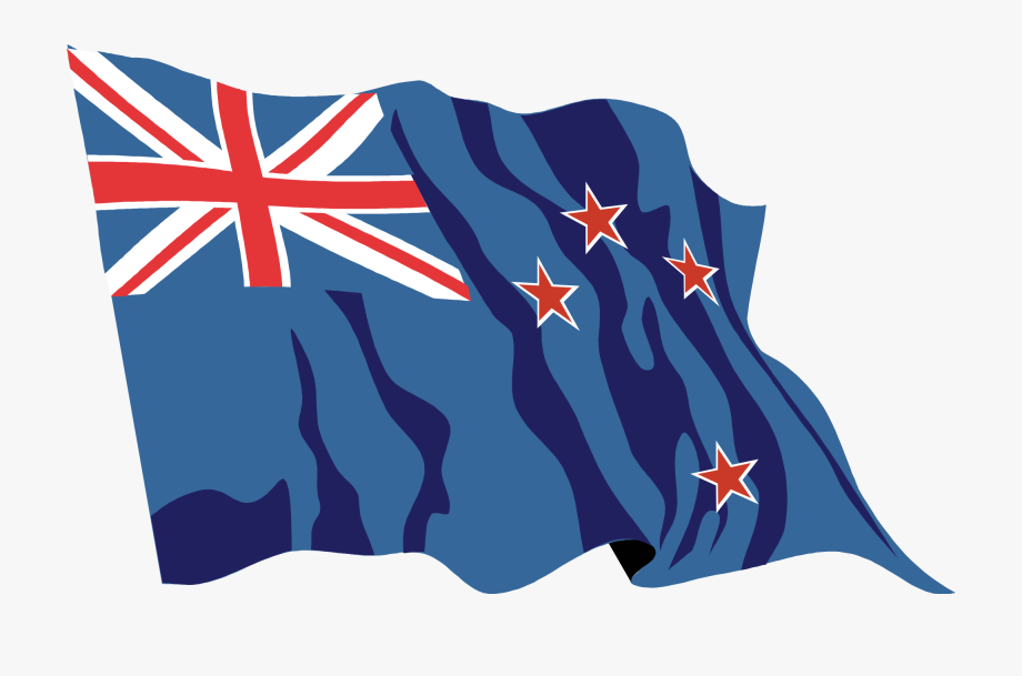 New Zealand Flag Waving Icon.