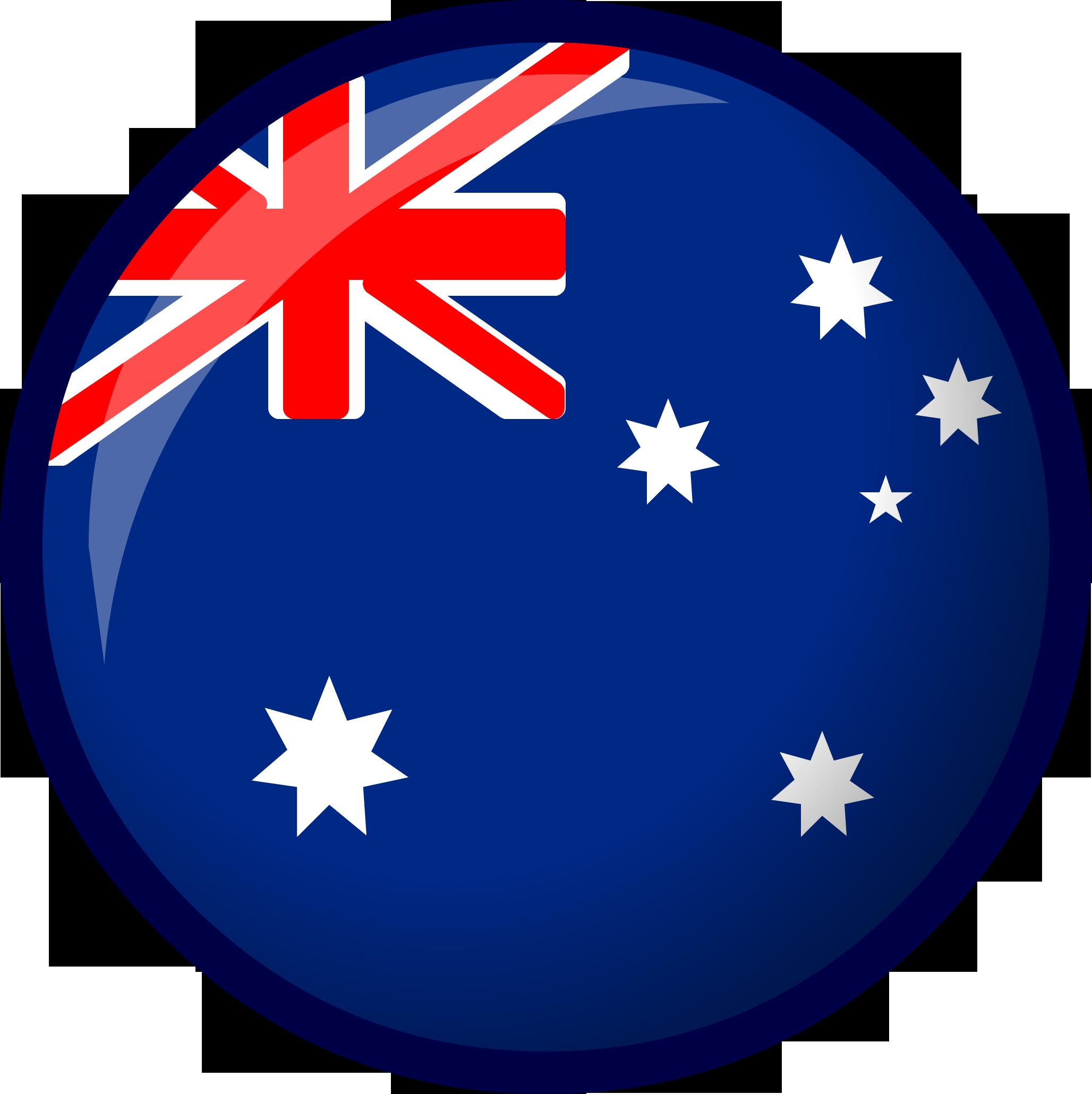 Australia Flag Circle Icon.
