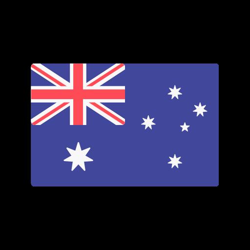 Australia, flag icon.