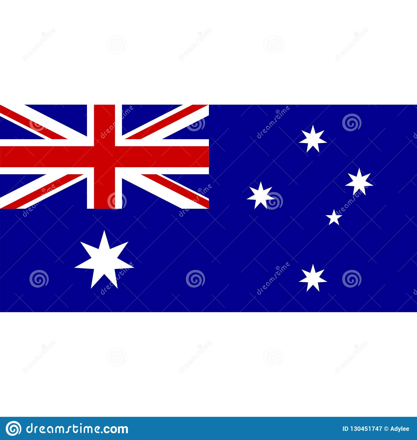 Stock Vector Australia Flag Icon 1 Stock Image.