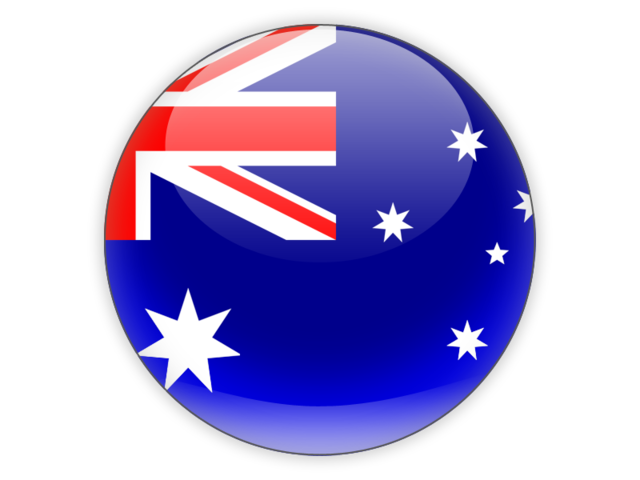 Round icon. Illustration of flag of Australia.