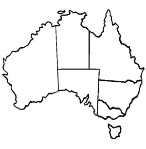 World Map of Australia.