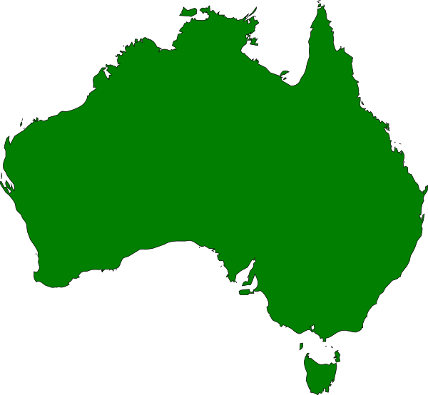 Australia Map Clipart.