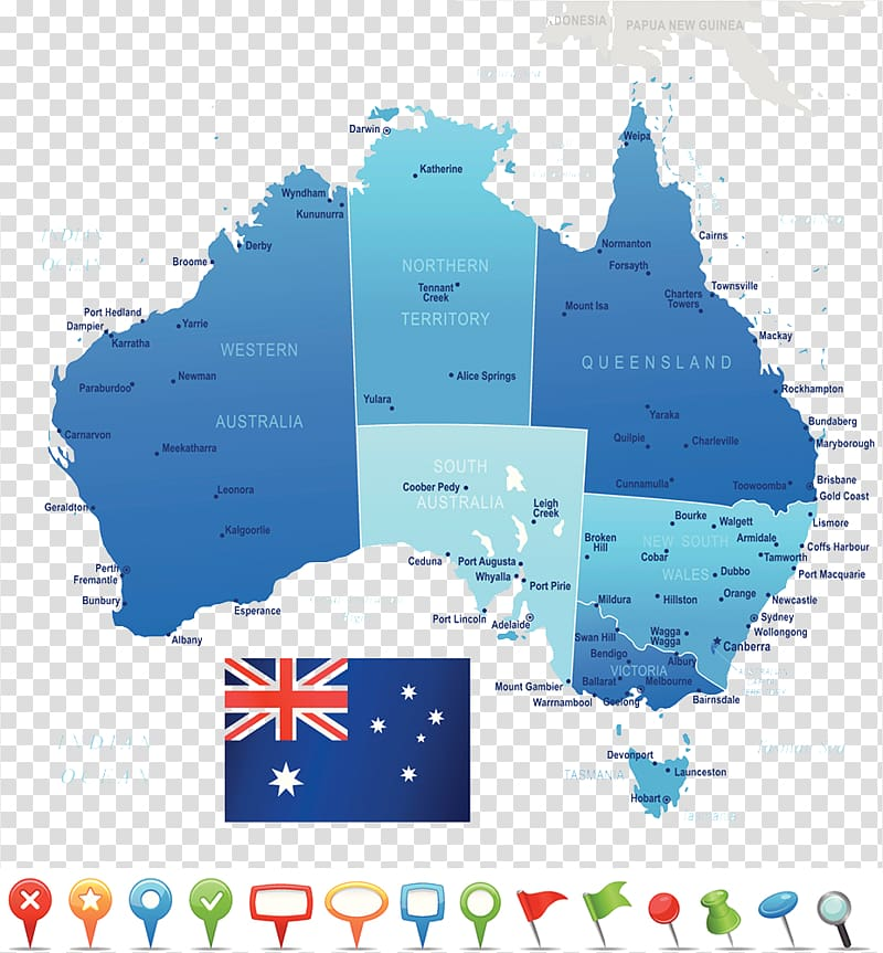 Perth United States Map Flag of Australia, Map of the.