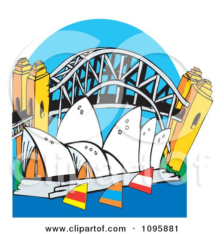 Clipart The Australian Sydney Harbor Bridge And Opera House With.