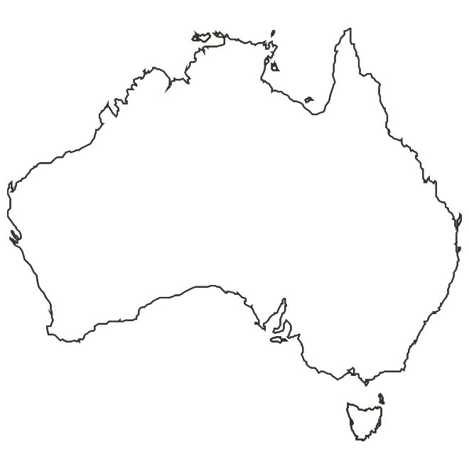 Vector map of Australia.