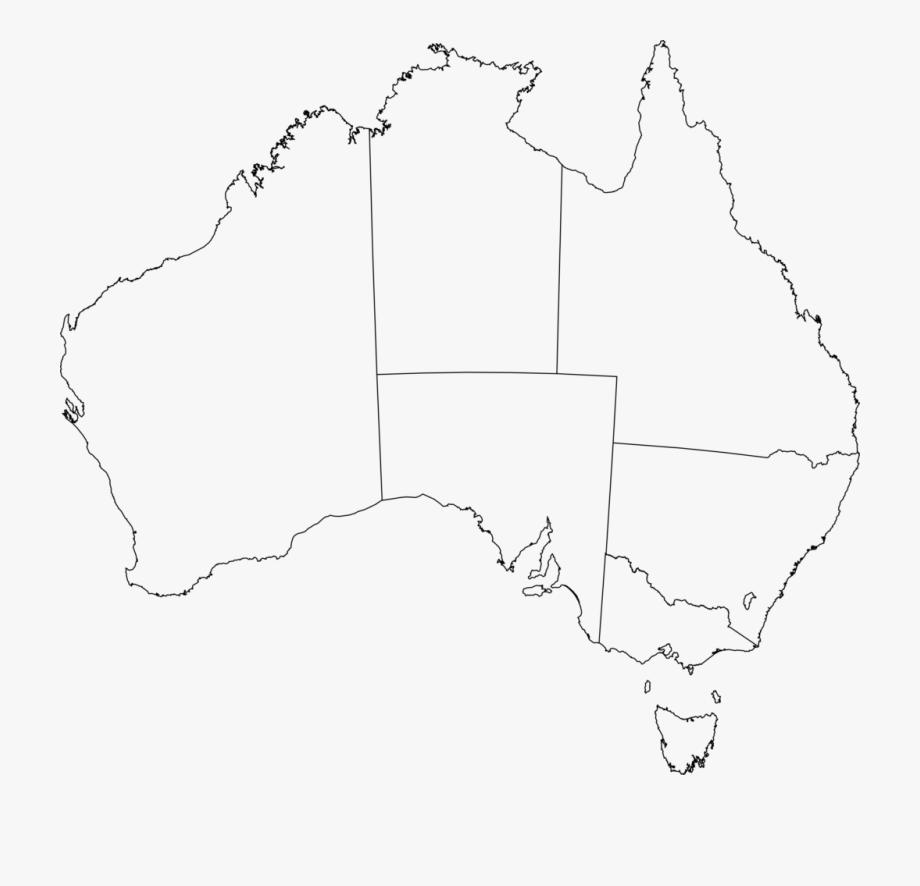 Simplistic Australian Map Outline Clipart Australia.
