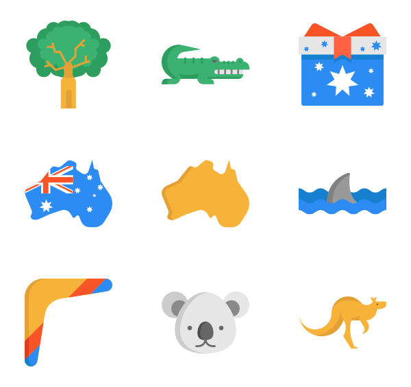 6 australian icon packs.