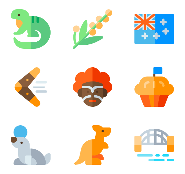 22 australia icon packs.