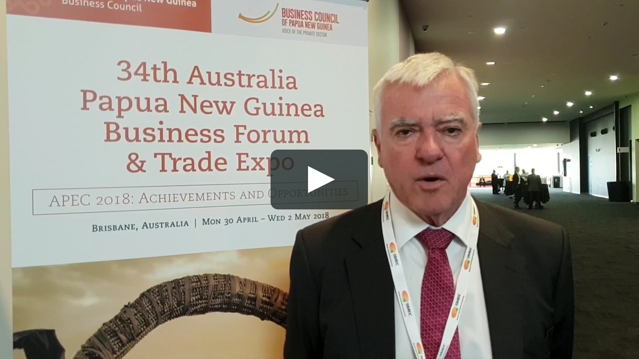 Chair Mark Epper talking at Australia PNG Business Forum.