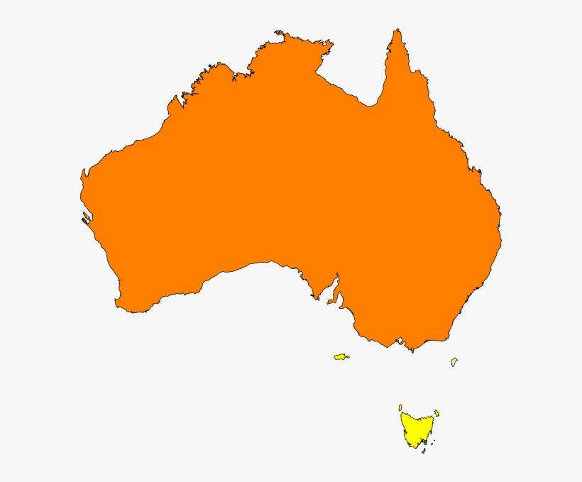 Australia Map Orange Clip Art At Clipartimage.