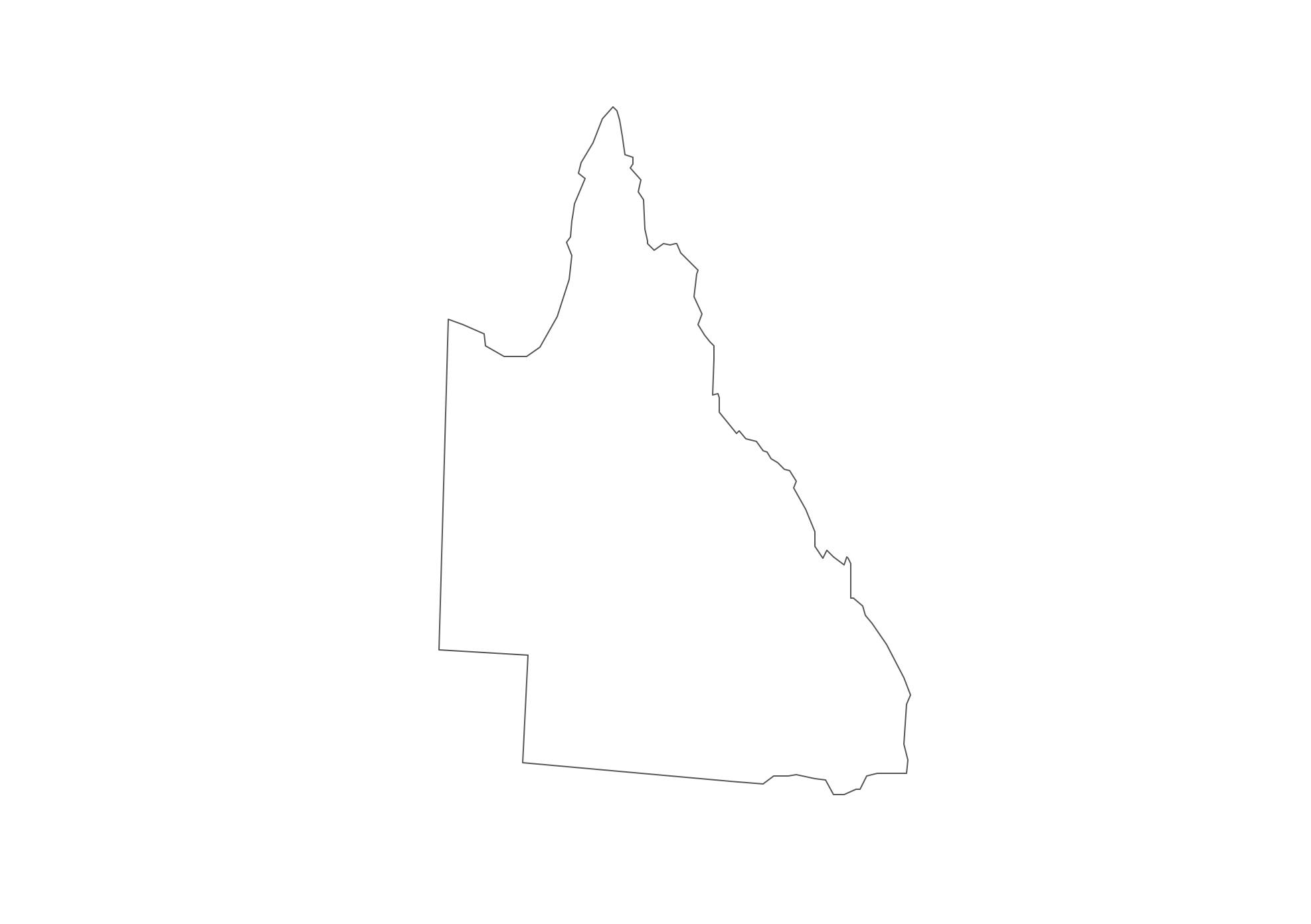 Queensland australia map clipart.