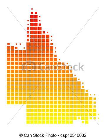 Vectors of Map of Queensland csp10510632.