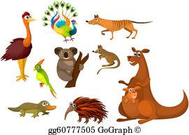 Australian Animals Clip Art.