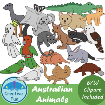 Australian Animals Clipart Worksheets & Teaching Resources.