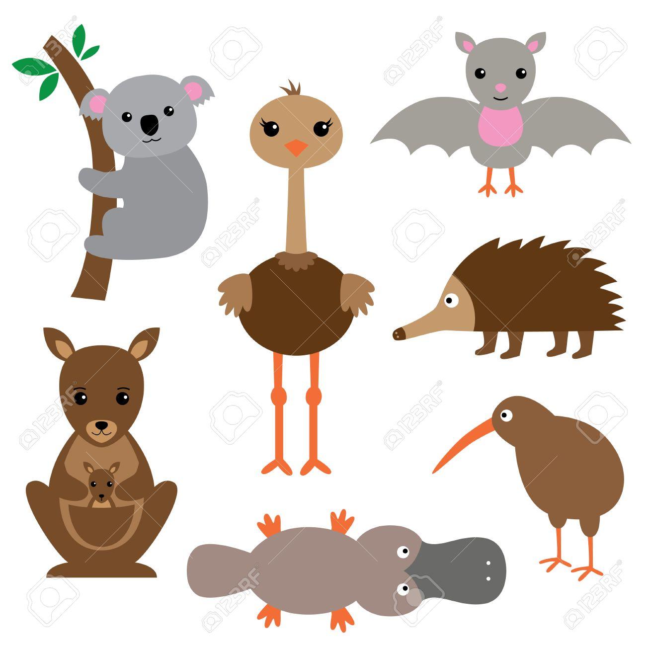 Australian animals set.