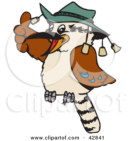 Clipart Illustration of a Giggling Cute Kookaburra Bird by Dennis.
