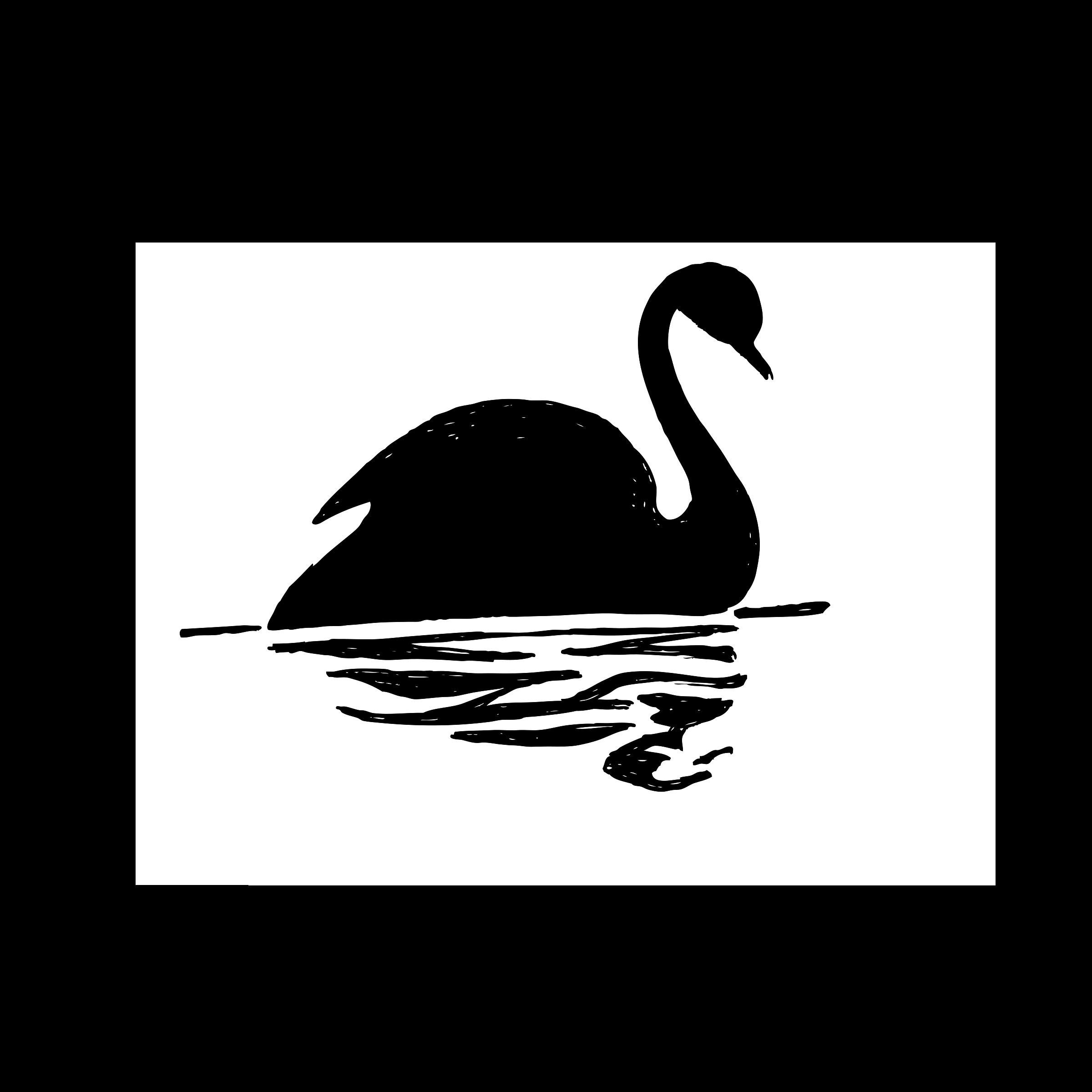 Clipart Black Swan.