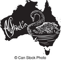 Clip Art Vector of Platypus as Australian symbol.